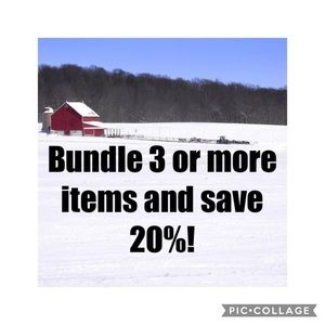 Bundle 3 or more items save 20%